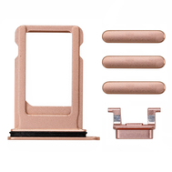 Replacement for iPhone 8/SE 2nd Side Buttons Set with SIM Tray - Gold