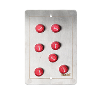 Kaisi Magnetic Universal PCB Circuit Board Fixture, Type: Type A (with 7 magnetic dots), Color: Red