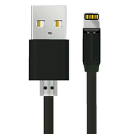 Rotation Magnetic Type C Micro USB Fast Charging Data Cable 3 IN 1, Condition: Straight Head Black