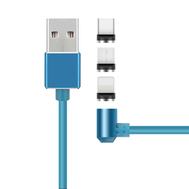 Rotation Fluorescence Magnetic Type C Micro USB Fast Charging Data Cable 3 IN 1