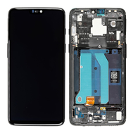 Replacement for OnePlus 6 LCD Screen Digitizer Assembly with Frame - Mirror Black