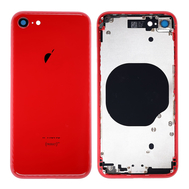Replacement for iPhone 8 Back Cover with Frame Assembly - Red