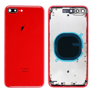Replacement for iPhone 8 Plus Back Cover with Frame Assembly - Red