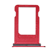 Replacement for iPhone 8 SIM Card Tray with Waterproof Circle - Red