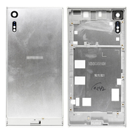 Replacement for Sony Xperia XZ Back Cover with Middle Frame - Silver
