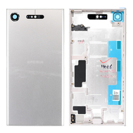Replacement for Sony Xperia XZ1 Back Cover with Middle Frame - Warm Silver