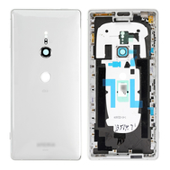 Replacement for Sony Xperia XZ2 Back Cover with Middle Frame - Liquid Silver