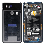 Replacement for Google Pixel 2 XL Battery Door with Rear Housing Full Assembly - Black