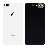 Replacement for iPhone 8 Plus Back Cover with Camera Holder - Silver