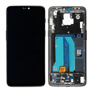 Replacement for OnePlus 6 LCD Screen Digitizer Assembly with Frame - Midnight Black, fig. 1