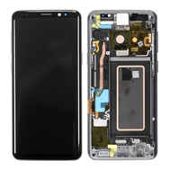 Replacement for Samsung Galaxy S9 SM-960 LCD Screen Digitizer Assembly with Frame - Grey