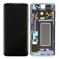 Replacement for Samsung Galaxy S9 SM-960 LCD Screen Digitizer Assembly with Frame - Blue