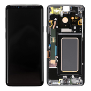 Replacement for Samsung Galaxy S9 Plus SM-965 LCD Screen Digitizer Assembly with Frame - Black