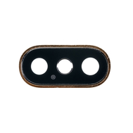 Replacement for iPhone Xs/Xs Max Rear Facing Camera Lens with Bezel - Gold