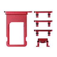 Replacement for iPhone 8/SE 2nd Side Buttons Set with SIM Tray - Red
