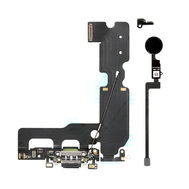 Charging Dock Flex Cable with Home Button Return Solution for iPhone 7 Plus, Color: Black