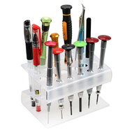 Transparent Acrylic Screwdriver Storage Rack