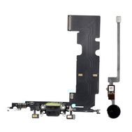 New Charging Dock Flex Cable with Home Button Return Solution for iPhone 8 Plus, Color: Black