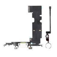 New Charging Dock Flex Cable with Home Button Return Solution for iPhone 8 Plus, Color: Silver