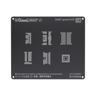QianLi ToolPlus 3D iBlack Universal BGA Reballing Black Stencil for China-made Phone Models, Type: EMMC general DDR