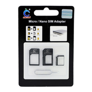 Micro / Nano SIM Adapter, Color: Black