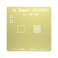 QianLi 3D CPU BGA Reball Gold Stencil for A8 A9 A10 A11, fig. 1