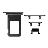 Replacement for iPhone XR Side Buttons Set with Single SIM Card Tray - Space Gray
