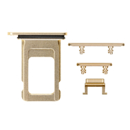 Replacement for iPhone XR Side Buttons Set with Single SIM Card Tray - Yellow