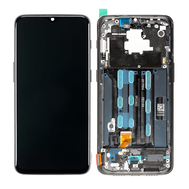 Replacement for OnePlus 6T LCD screen Digitizer Assembly with Frame - Black