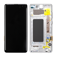 Replacement for Samsung Galaxy S10 Plus OLED Screen Digitizer Assembly with Frame - Prism White