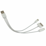 3 in 1 USB Cable for iPhone 5/4S & Samsung