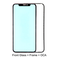 Replacement for iPhone XR Front Glass with Frame Bezel assembled OCA Film
