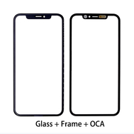Replacement for iPhone 11 Front Glass with Frame Bezel assembled OCA Film