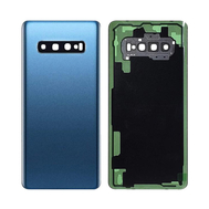 Replacement for Samsung Galaxy S10 Plus Battery Door with Camera Glass - Prism Blue