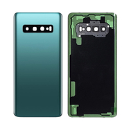 Replacement for Samsung Galaxy S10 Plus Battery Door with Camera Glass - Prism Green