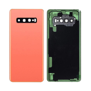 Replacement for Samsung Galaxy S10 Plus Battery Door with Camera Glass - Flamingo Pink
