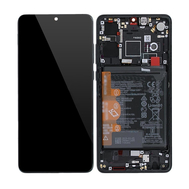 Replacement for Huawei P30 LCD Screen Digitizer Assembly with Frame - Black