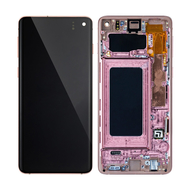 Replacement for Samsung Galaxy S10 OLED Screen Digitizer Assembly with Frame - Flamingo Pink