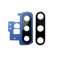 Replacement for Samsung Galaxy Note 10 Plus Rear Camera Holder with Glass Lens - Blue