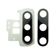 Replacement for Samsung Galaxy Note 10 Plus Rear Camera Holder with Glass Lens - Silver
