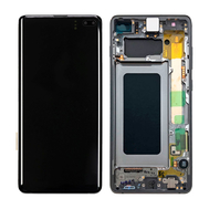 Replacement for Samsung Galaxy S10 Plus OLED Screen Digitizer Assembly with Frame - Black