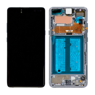 Replacement for Samsung Galaxy S10 5G OLED Screen Digitizer Assembly with Frame - Crown Silver