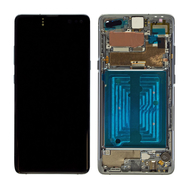 Replacement for Samsung Galaxy S10 5G OLED Screen Digitizer Assembly with Frame - Majestic Black