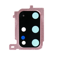 Replacement for Samsung Galaxy S20 Plus Rear Camera Holder with Lens - Cloud Pink