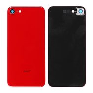 Replacement for iPhone SE 2nd Back Cover with Camera Holder - Red