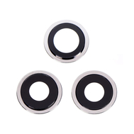 Replacement for iPhone 12 Pro Max Rear Camera Holder with Lens - Silver
