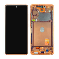 Replacement for Samsung Galaxy S20 FE 5G OLED Screen Assembly with Frame - Cloud Orange