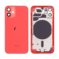 Replacement For iPhone 12 Mini Rear Housing with Frame - Red