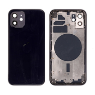 Replacement For iPhone 12 Rear Housing with Frame - Black