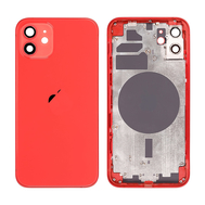 Replacement For iPhone 12 Rear Housing with Frame - Red